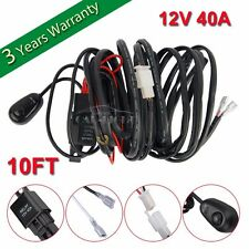 10FT Wiring Harness Kit Line 40A 12V Switch Relay Harness For LED Work Light Bar