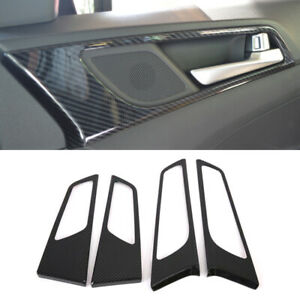 for Hyundai Tucson TL 2015-2020 Interior Door Handle Cover Carbon Fiber Black