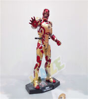 HC Iron Man Diecast Mark MK42 with LED Light Action Figure 1/6th Model Toy