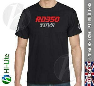 TS58 YAMAHA RD350 YPVS T SHIRT BLACK RD350 LC POWERVALVE 31K F2 F1 N1 N2