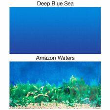 LM Penn Plax Double-Back Aquarium Background - Deep Blue Sea / Amazon Waters