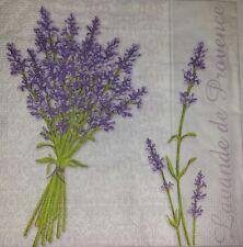 4 x single  Paper Napkins Flowers Lavander for Decoupage CRAFTING-7