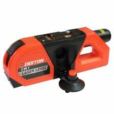 Laser Level Spirit Tape Measure 3 In 1 To 15 Metres 2.4 Metre Dekton