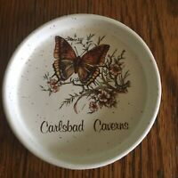Vtg Treasure Craft Trinket Dish Carlsbad Caverns souvenir New Mexico USA White