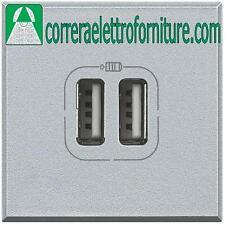 BTICINO HC4285C2 AXOLUTE CARICATORE USB 1.5A DOPPIO TECH
