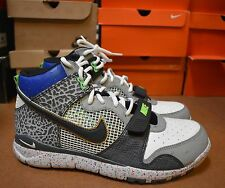 New Nike Trainer Dunk  High Mitas Black/White/Grey 317390 001 Size 10.5
