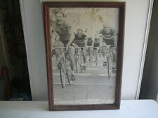 Cyrille Guimard  grande photo encadrée vintage années 70 velo