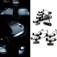 4 x 3 White LED Interior Light Car Night Atmosphere Charge Floor Decor Neon Lamp