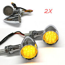 Bullet Motorcycle LED Turn Signals Brake Running Tail Light For Harley-Davidson