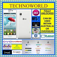 "UNLOCKED LG E450F WHITE+3G WIFI HOTSPOT+CHEAP 4"" ANDROID+FLASH CAMERA+GPS+FM+MP3"
