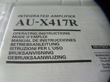Sansui AU-X417R Owner's Manual Operating Instructions Instructions New