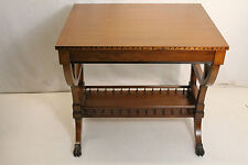 Lovely Regency Style Inlaid Fruitwood Sofa Hallway Table, c. 1940