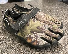 Men's Fila Skele-Toes Obsession Camo Mossy Oak Water Running Shoes Sz 9 M