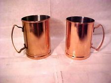 """Lot of 2 World Tableware CMM-200 Copper CUPS / MUGS Moscow Mule 4"""" T X 3"""" WIDE"""