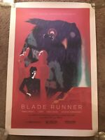 1982Blade Runner Harrison Ford Movie Print Poster Mondo Robot House Ridley Scott