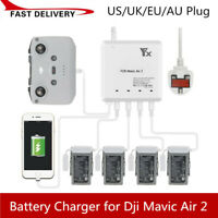 USB Mini Battery Charger Four Batteries Charging Hub for DJI Mavic Air 2 Drones