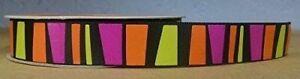 Halloween Satin Multi Colored Stripe Ribbon - 3yards 5/8 In