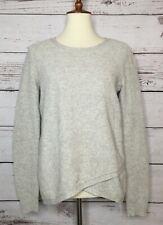 Madewell Two Tone Waffle Knit Cross Front Sweater Size Small