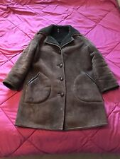 Vintage Ladies Woman's Baily's Glastonbury Sheepskin Coat Size Large 16 Del Boy