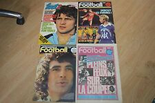 LOT 4 JOURNAUX 3 FRANCE FOOTBALL 1977 ST ETIENNE + 1 JOURNAL FRANCE FOOT 2