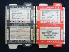 Vintage 1930's Contract Bridge Calculator - Playing Card Game Will's Advertising