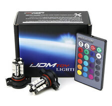 (2) 7-Color RGB 5202 LED Bulbs For Fog Light Driving Lamps w/ Wireless IR Remote