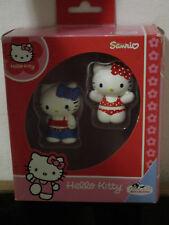 HELLO KITTY SANRIO 2 FIGURAS PVC BULLYLAND PRECIOSAS NUEVAS EN SU CAJA ORIGINAL