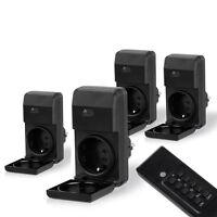 Funksteckdosen Set für Außen 4er Set mit Fernbedienung Steckdose Funkschalter