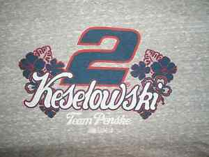 Ladies Brad Keselowsk #2 Grey NASCAR Short Sleeve TShirt NWT Size Large!