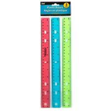 3pcs Plastic Rulers 12