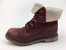 Timberland A119N Teddy Fleece Fold-Down  Boots Women's Size 11, Burgundy 2509