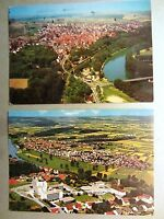 BAD WIMPFEN Neckar 2x AK Lot Fliegeraufnahme gebraucht Ansichtskarten gelaufen