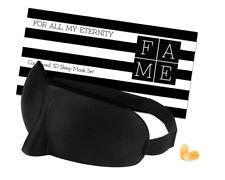 For All My Eternity Luxury 3D Contoured Sleep Mask - Soft Blackout Eye Mask Set