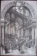 BIBIENA, Giuseppe Galli da (1696-1757). Gravure originale tirée de Architecture.