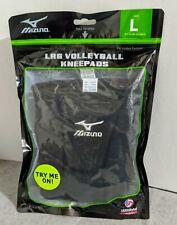 "Mizuno LR6 Volleyball Kneepads 6 3/4"" Size Large -Black - New"