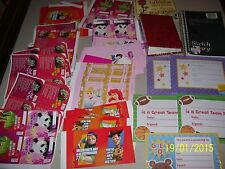 BIG LOT OF CHILDRENS VALENTINES, HEARTS PHOTO BOOK, STUDENT CERTIFICATES, +  FS