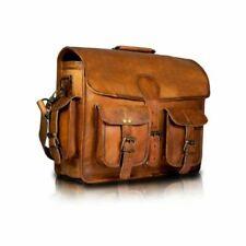 Large Women's Leather Satchel Crossbody Shoulder Laptop Bag Handbag Purse Brown