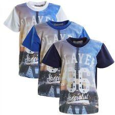 Kurzarm Jungen-T-Shirts, - Polos & -Hemden aus Baumwollmischung mit Motiv