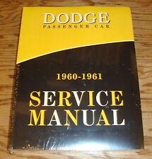 1960 - 1961 Dodge Passenger Car Service Shop Manual 60 61