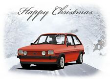 Ford Fiesta Mk1 XR2 Supersport Dad Son Girlfriend Classic Car  Christmas  Card