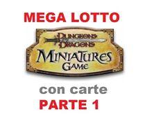 MEGA LOTTO D&D Miniatures Dungeons & Dragons Pathfinder GDR con carte RARISSIME