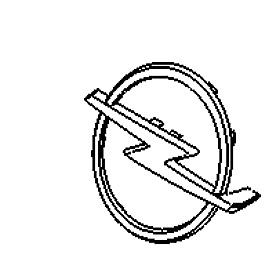 VAUXHALL EMBLEM - GENUINE NEW - 93186294