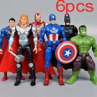 Marvel Avengers Super Hero DC Incredible Hulk Action Figure Toy cake topper 6PCS