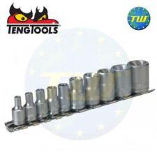 "Teng 10pc 3/8 & 1/4"" Drive Socket Clip Rail Set TX-E Female Torx TX M3814"