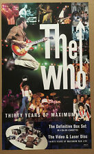THE WHO Rare 1994 PROMO POSTER of Box CD 18x30 NEVER DISPLAYED Pete Townshend
