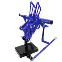 CNC Rearset Footpeg Footrest Peg For 1996-2010 2002 2003 Aprilia RS125 2T Blue