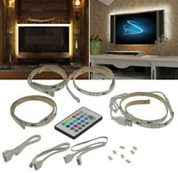 RGB TV Hintergrund Beleuchtung Licht Stripe USB-Anschluss 4x 50cm LED Leisten