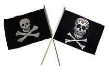 "12x18 12""x18"" Wholesale Combo Pirate No Patch & Sugar Skull Stick Flag"