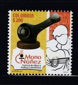 COLOMBIA Mono Núñez Andean Music Festival MNH stamp