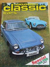 THOROUGHBRED CLASSIC CARS DEC 1977 BMW 633 FIAT X1/9 AND BMWR100RS CORGI JAG MKV